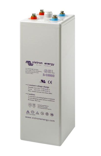 Batterie solaire tubulaire plate OpzV 2V 1000Ah Victron