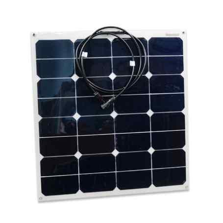 Panneau solaire flexible 12V 55W monocristallin back contact