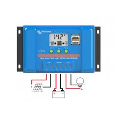 BlueSolar PWM-LCD&USB 12/24 V et 48 V